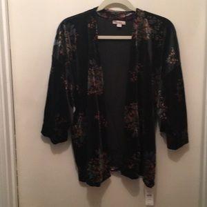 Ann Taylor Loft velvet kimono topper. NWT!